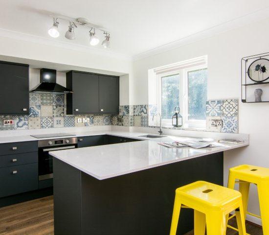 Quartz worktop kitchen design